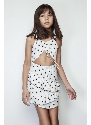 Tyess Kız Çocuk Ekru Elbise 19SS2TJ4928 Ekru
